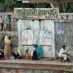 Women and Children Wait for Boat - Bangladesh