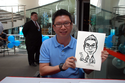 Caricature live sketching for Singapore Suntec City Annual Party - 12