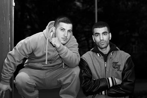 Ozman & Yasser zusammen_B&W