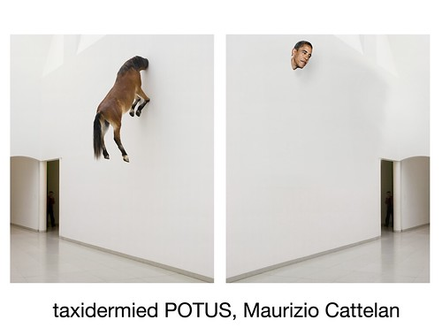taxidermied POTUS by Colonel Flick