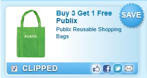 Publix Reusable Shopping Bags  Coupon