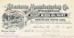Allentown Manufacturing Co. Breing's White Lead (Paint) (A ...