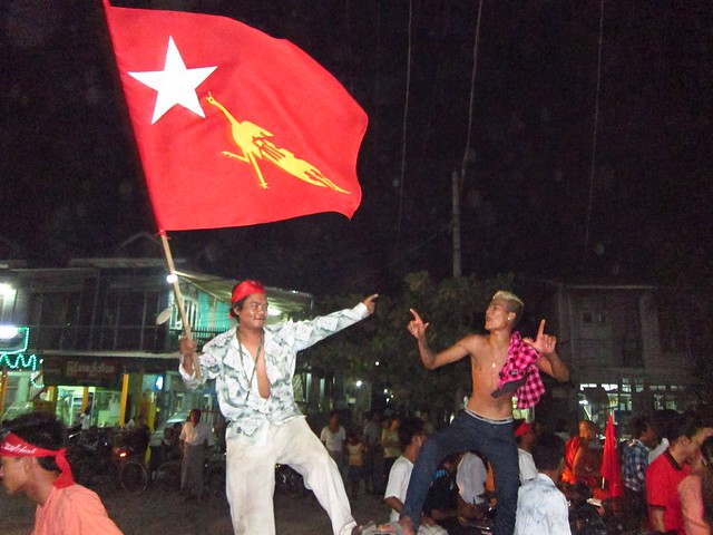 NLD Flag at Party