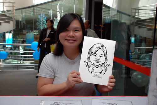Caricature live sketching for Singapore Suntec City Annual Party - 11