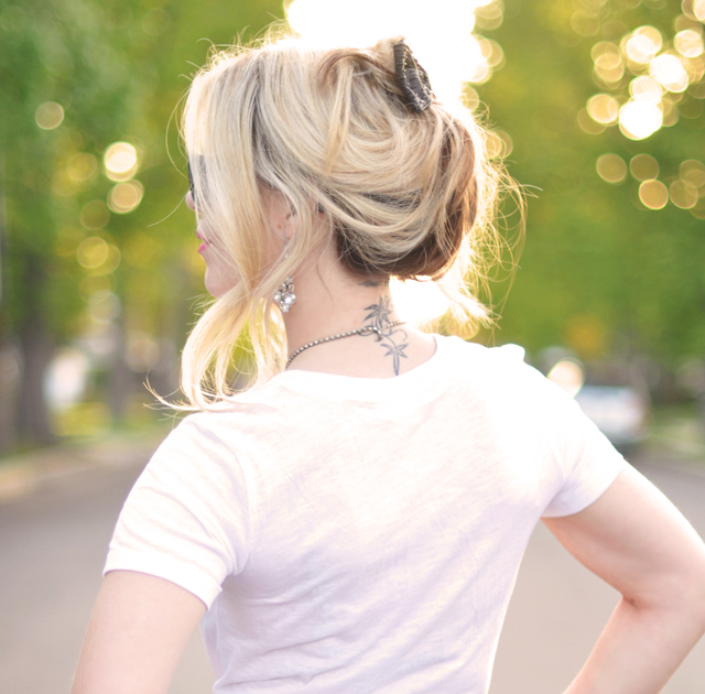 messy updo-hair styles - side