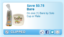 Bare By Solo Cup Or Plate  Coupon