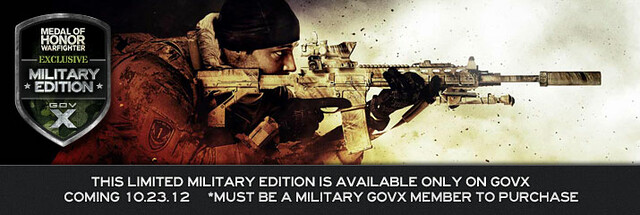 EA Announces Medal of Honor Warfighter Military Edition, Exclusively Available for Military