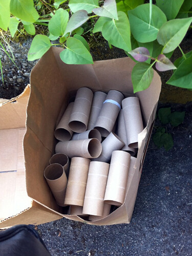 Bag of toilet paper rolls