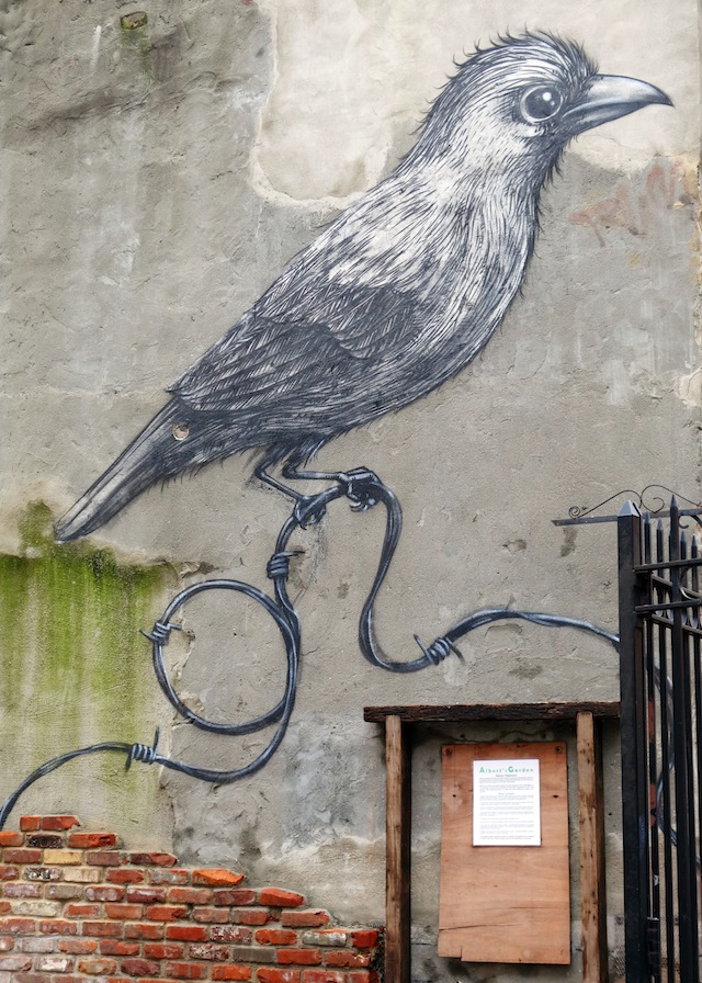 New York street art Lower East Side bird