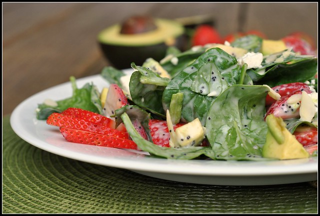 Strawberry Avocado Spinach Salad 1
