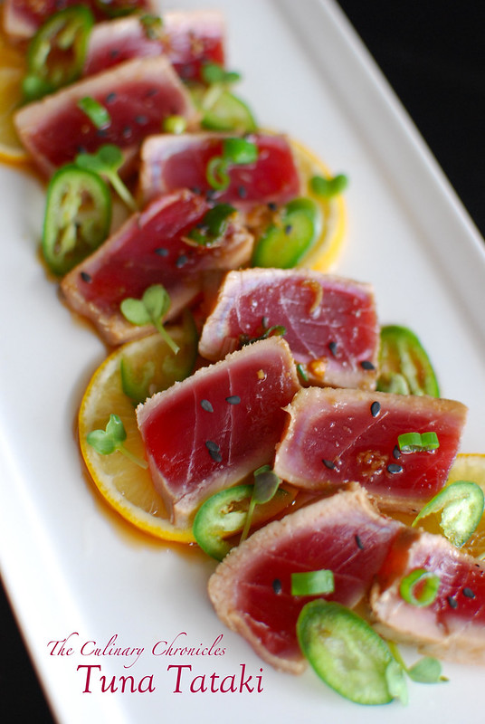 Tuna Tataki Summer Rolls Recipe — Dishmaps