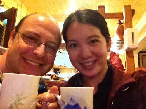 Dan and I in the teahouse