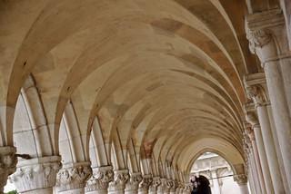 Image of Doge's Palace near Venice. venice arch columns dogespalace