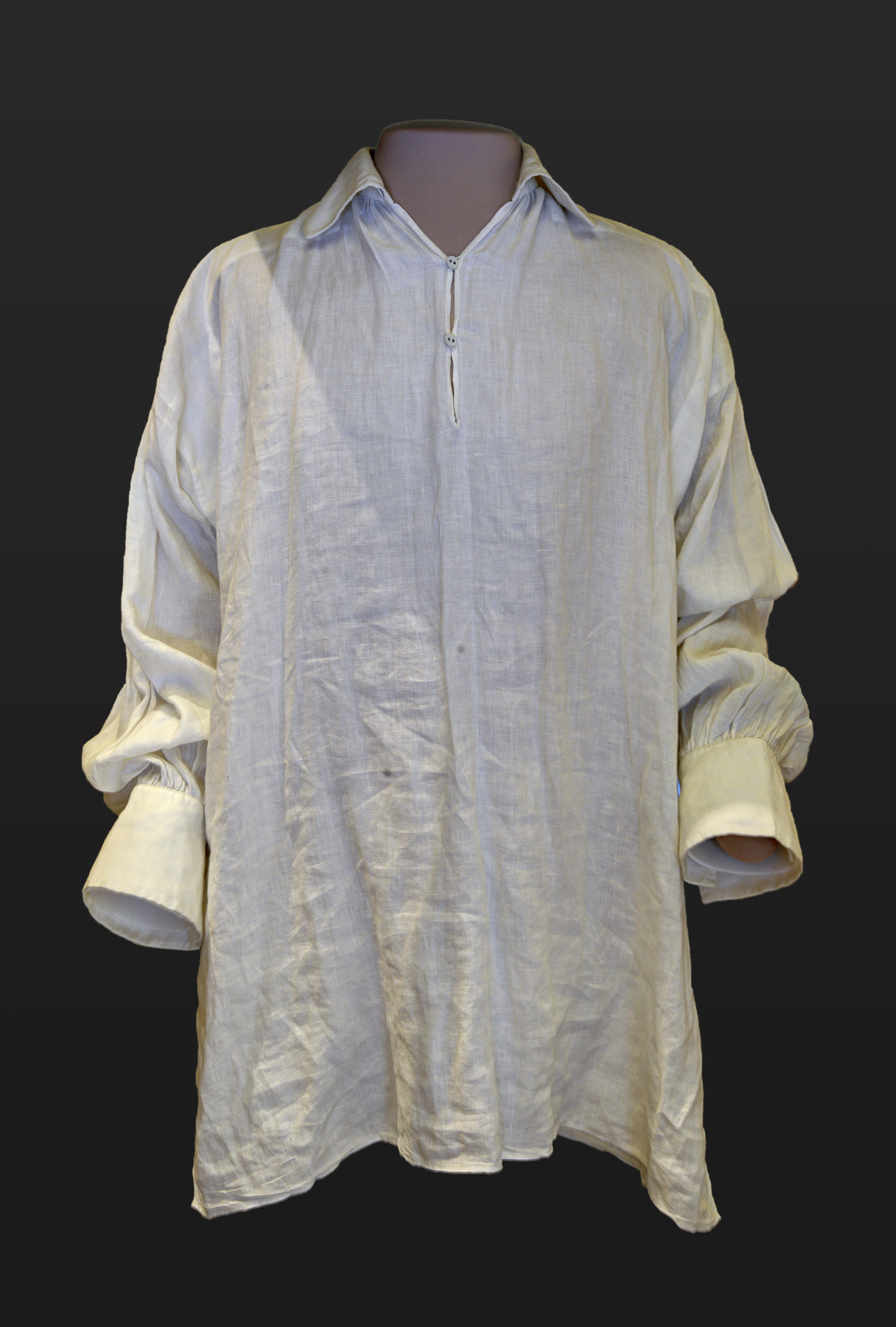 The shirt worn by actor Colin Firth during his portrayal of Mr. Darcy as he emerged from the Pemberley pond in the BBC's 1995 Pride and Prejudice production