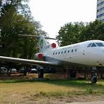 Yakovlev Yak.40 c/n 9521541 Hemus Air registration LZ-DOF Preserved next to terminal 1 at Sofia Airport, Bulgaria