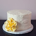 rustic wedding cake with sugar flower
