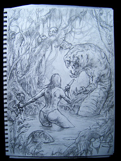 Swamp monster drawing