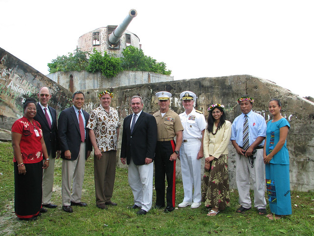 Assistant Secretary Campbell and Kiribati Foreign Secretary Lambourne and other Officials