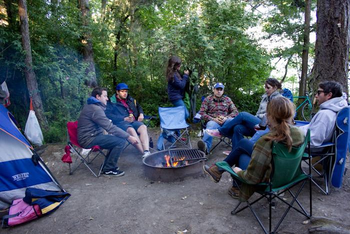 Campfire circle.