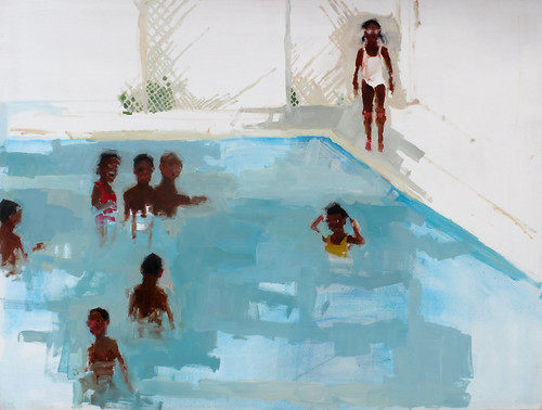 "Jennie Ottinger ""Orphans at Play (in pool)"""