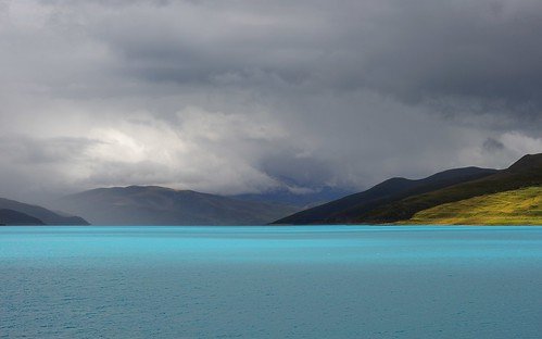 Yamdrok Yutso the Turquoise colored Lake . Tibet by reurinkjan