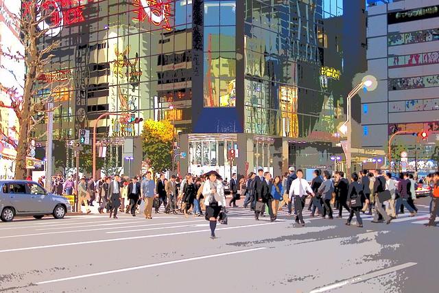 Ligne Claire Akihabara - Night Pedestrians