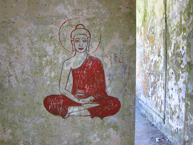 Buddha Painting in Hill Station Ruins