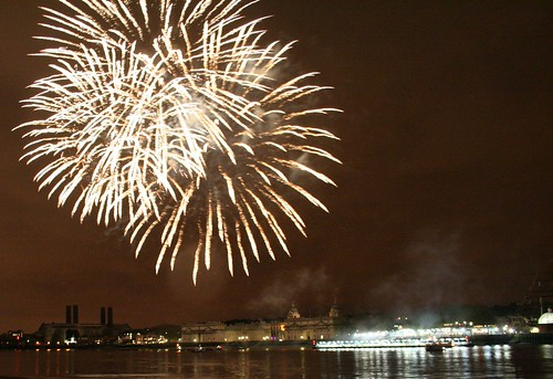 Fireworks at Greenwich this evening