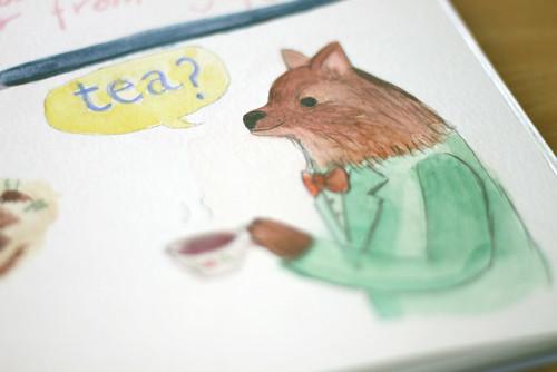 Tea with Pomeranian
