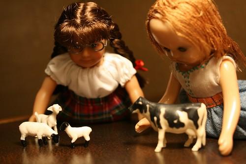 Playing farm animals