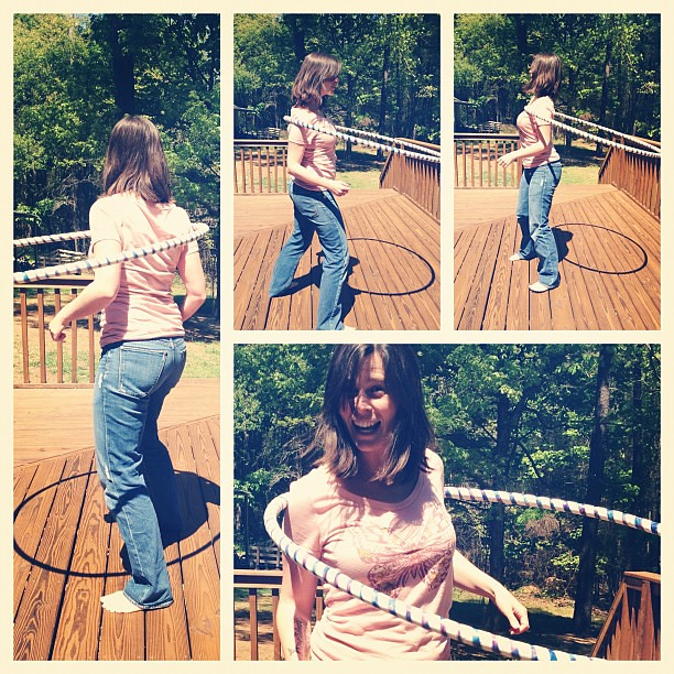 The many faces of excitement over mastering shoulder #hooping