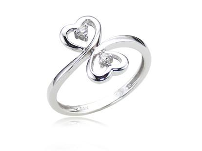 14K White Gold - Diamond Promise Ring