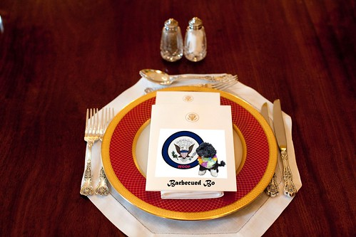 WHITE HOUSE MENU by Colonel Flick