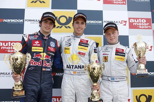 Sainz y Juncadella podium 1ª carrera