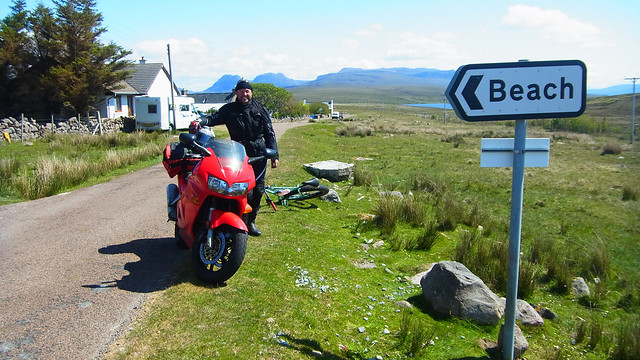 Richard on his VFR