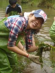 志工紫忻開心的表示體驗到許多大自然的驚喜 吳岱芝攝
