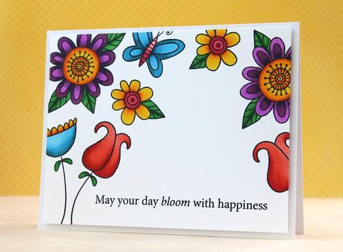 doodle flowers by L. Bassen