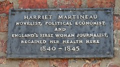 Photo of Harriet Martineau grey plaque