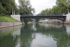 Looking upriver along the Ljubljanica river