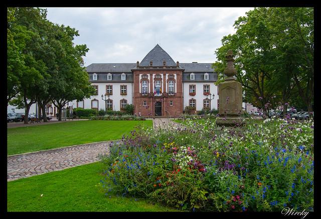 Alsacia Haguenau Estrasburgo - Jardines y Ayuntamiento de Haguenau