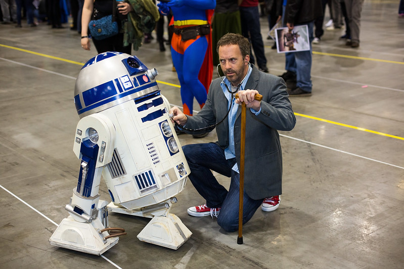 R2D2 Meets Dr. House at Fan Expo Vancouver
