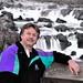 David At Great Falls VA - B&W Background by dcsaint