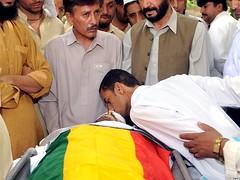 Habib Jalib Shaheed's body