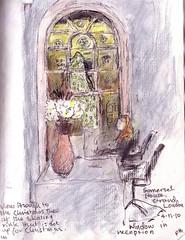 View through window, London. by Rosemary Bradshaw. (drawingaline)