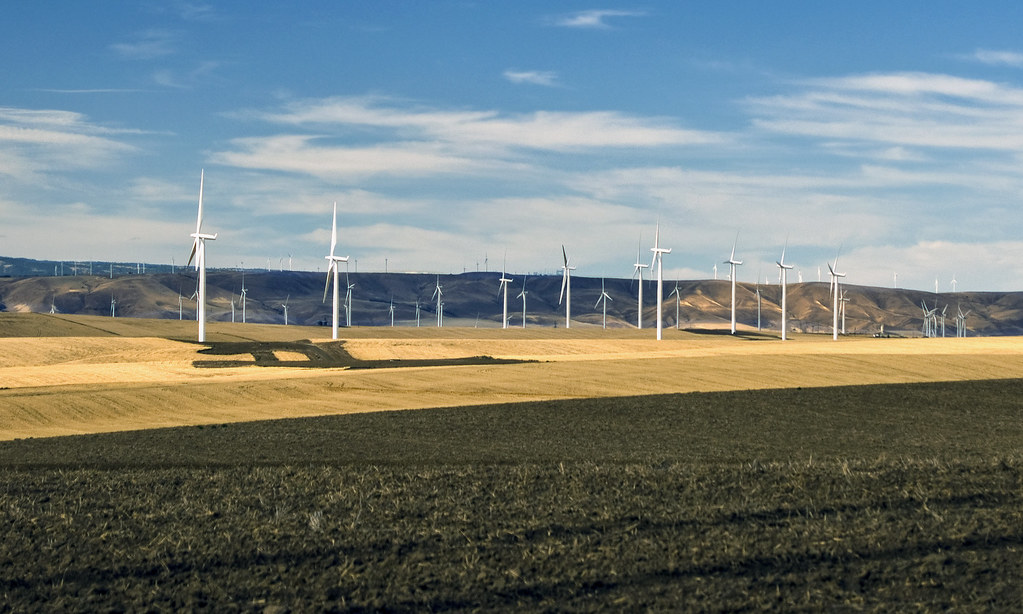 Wind farm near Wasco, Oregon