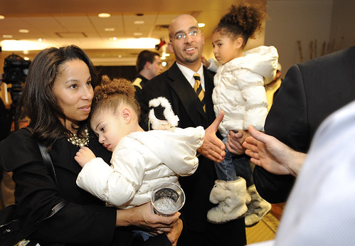James Franklin and family