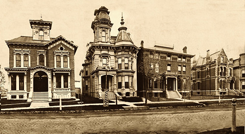 Alfred Street, Brush Park, Detroit, 1881