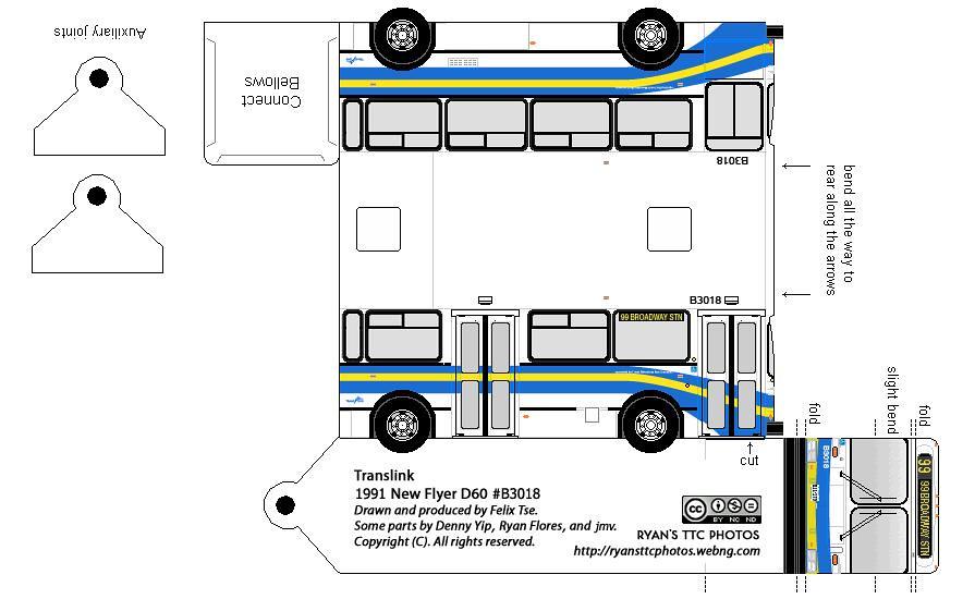 New Flyer D60 Translink 99 B Line B3018