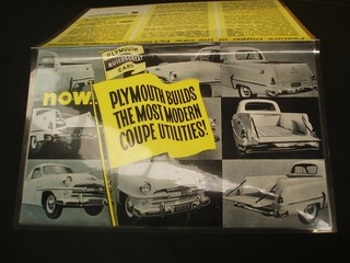 1956 Plymouth P25 coupe utility brochure
