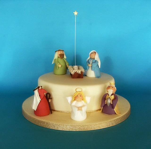 Nativity Christmas Cake Design : Nativity Christmas Cake! Flickr - Photo Sharing!